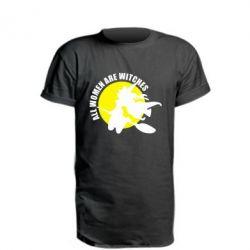 Удлиненная футболка Все женщины - ведьмы