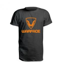 Удлиненная футболка Warface Logo - FatLine