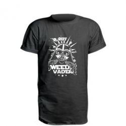 Купить Удлиненная футболка Weed Vader, FatLine