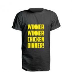 Купить Удлиненная футболка Winner winner chicken dinner!, FatLine