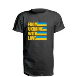 Удлиненная футболка With love from Ukraine - FatLine