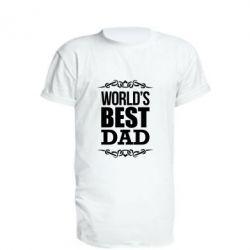 Купить Удлиненная футболка World's Best Dad, FatLine