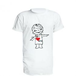 Удлиненная футболка Я люблю его