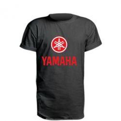 Удлиненная футболка Yamaha Logo(R+W)