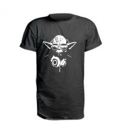 Удлиненная футболка Yoda в наушниках