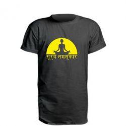 Подовжена футболка Йога