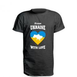 Удлиненная футболка З України з любовью