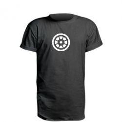 Удлиненная футболка Железный человек - FatLine