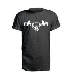 Подовжена футболка Жим штанги