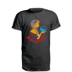 Удлиненная футболка Жінка-Українка