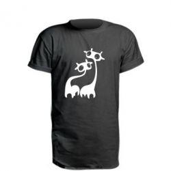 Удлиненная футболка Жирафы