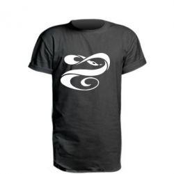 Удлиненная футболка змеючка