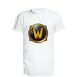 Удлиненная футболка Значок wow