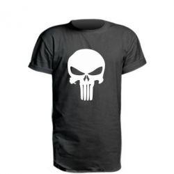 Подовжена футболка Зубастий череп