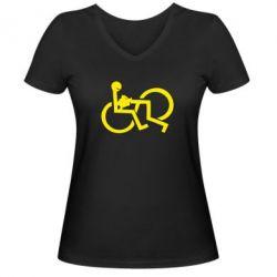 Женская футболка с V-образным вырезом удовольствие - FatLine