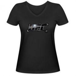 Женская футболка с V-образным вырезом UFC Art - FatLine