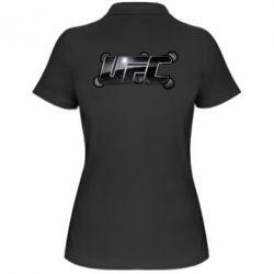 Женская футболка поло UFC Art - FatLine