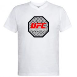 Мужская футболка  с V-образным вырезом UFC Cage - FatLine