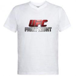 Мужская футболка  с V-образным вырезом UFC Fight Night - FatLine