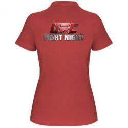 Женская футболка поло UFC Fight Night - FatLine