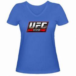 Женская футболка с V-образным вырезом UFC GyM - FatLine