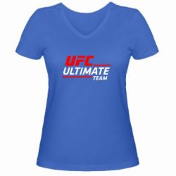 Женская футболка с V-образным вырезом UFC Ultimate Team - FatLine