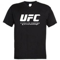 Мужская футболка  с V-образным вырезом UFC - FatLine