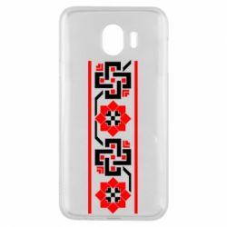 Чехол для Samsung J4 Украiiнський орнамент - FatLine