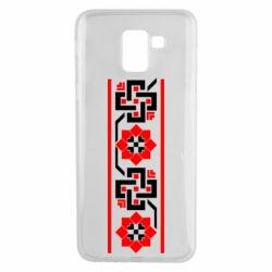 Чехол для Samsung J6 Украiiнський орнамент - FatLine