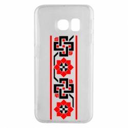 Чехол для Samsung S6 EDGE Украiiнський орнамент - FatLine