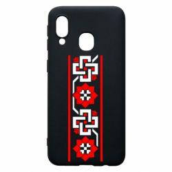 Чохол для Samsung A40 Украіінський орнамент