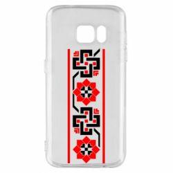 Чехол для Samsung S7 Украiiнський орнамент - FatLine