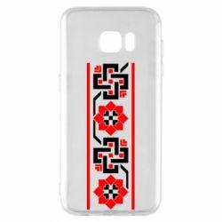 Чехол для Samsung S7 EDGE Украiiнський орнамент - FatLine