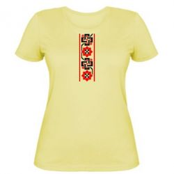 Женская футболка Украiiнський орнамент - FatLine