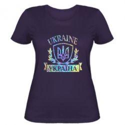 Женская футболка Украина ненька Голограмма