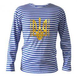 Тельняшка с длинным рукавом Украина превыше всего! Свобода или смерть! Голограмма