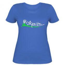 Женская футболка Україна з квіткою - FatLine
