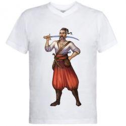 Мужская футболка  с V-образным вырезом Ukraine Cossak