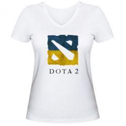 Женская футболка с V-образным вырезом Ukraine Dota Team - FatLine