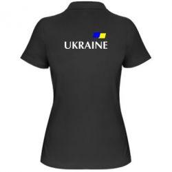 Женская футболка поло UKRAINE FLAG - FatLine