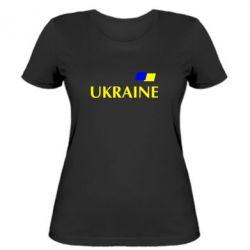 Женская футболка UKRAINE FLAG