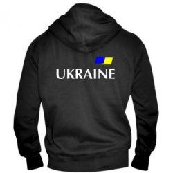 Мужская толстовка на молнии UKRAINE FLAG - FatLine