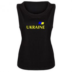 Женская майка UKRAINE FLAG - FatLine