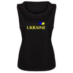 Женская майка UKRAINE FLAG