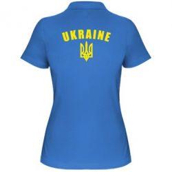 Жіноча футболка поло Ukraine + герб