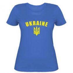 Женская футболка Ukraine + герб - FatLine