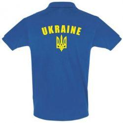 Футболка Поло Ukraine + герб - FatLine