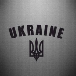 Наклейка Ukraine + герб - FatLine