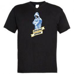 Мужская футболка  с V-образным вырезом Ukraine Hooligans - FatLine