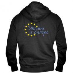 Мужская толстовка на молнии Ukraine in Europe - FatLine